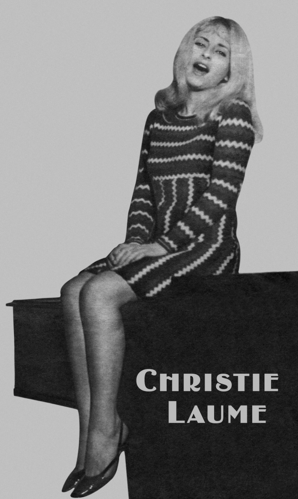 """Christie Laume in Paris 1964. Promoting """"Agather ou Christie"""" song"""