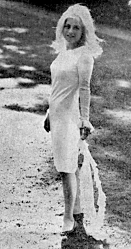 Christie Laume in Paris at the Bois de Boulogne. 1965